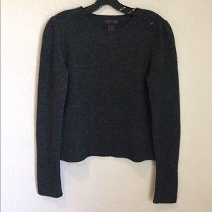 Ralph Ralph Lauren gray wool button wool sweater